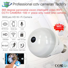 Wholesale Home Security Android - 360 Degree Wifi IP Network Wireless HD Camera Baby Monitor CCTV Security Camera Bulb EC Network Panoramic Camera