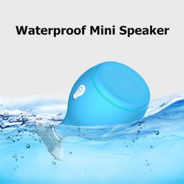 Haut-parleurs bluetooth en Ligne-2017 Mini Baleine Queue Flottant IPX6 Étanche Douche Portable Bluetooth Hifi Haut-parleur avec Support de Téléphone Sucker Stands Lumière MIS135