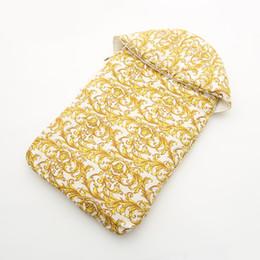 Borse autunnali online-38 Style Baby Sacco a pelo Stampa oro Autunno e inverno Sacchetto neonato per dormire