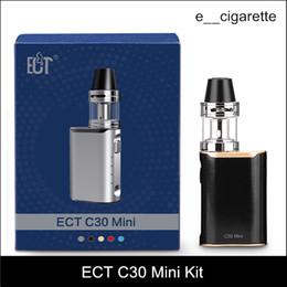 Wholesale Electronic Cigarette Plastic Box - ECT C30 mini starter kit e cigarette box mod vape mod met atomizer 2.0 ml vaporizer 1200mah electronic cigarette