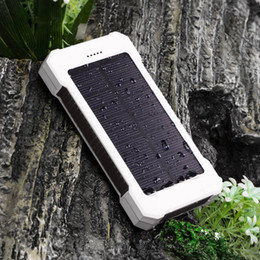 Wholesale Power Banks Rings - 20000mah Solar Power Bank Outdoor Travel Phone Battery Charger Adapter Phone Use with Key Ring Small Order