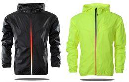 Wholesale Thin Windbreaker Jackets - 2017 New Spring And Fall New men sports jacket hooded jacket casual Fashion Thin Windbreaker Zipper Coats Free Shipping
