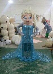 Wholesale Making Cartoon Movies - New Style Elsa Mascot Costume From Frozen Cartoon Princess Elsa Performing costumes walking mascot costumes for adult festival fancy dress