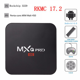 Wholesale Quad Core Media Player - Mxq Pro TV Box Smart Android 6.0 RK3229 Quad Core 1GB 8GB EMMC Flash WiFi 4K 3D HDMI 2.0 Media Player