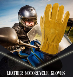 Wholesale Driver Gloves For Men - New Men's Work Gloves Cowhide Driver Security Protection Wear Safety Workers Welding Moto Gloves For Men