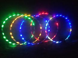 Attrezzature sportive online-Nuovo bagliore di luce colorata a LED Plus Hula Hoop Glow in Dark Fitness Sports Fitness Attrezzature per body building