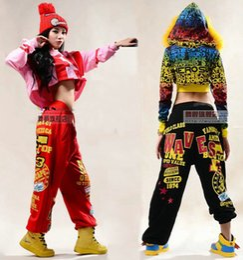 5d479a378433a Marca de moda Adulto Mulheres Calças desempenho desgaste sweatpants traje  feminino de malha solto harem hip hop calças de dança