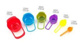 Wholesale Colorful Utensils - New Kitchen Colorful Measuring Spoons Kitchen Colourworks Measuring Cups Spoon Cup Baking Utensil Set Kit Measuring Tools 6Pcs Set