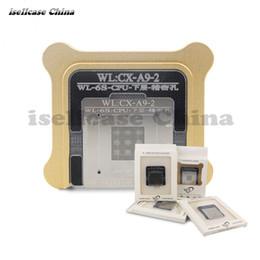 Wholesale Bga Reballing Stencil Kit - for iPhone 5s 6 6s 7 CPU A6 A7 A8 A9 A10 BGA reballing Tin Net kit Baseband Stencil Great Repairing Tool platform