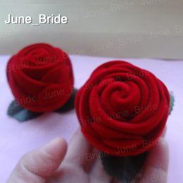Deutschland Real Photo Cute Red Rose gefallen Box Hochzeit Bomboniere Bridal Candy oder Ring gefallen Halter Boxen Dusche Party Hochzeit Supplies 100 Stück Versorgung