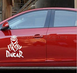 Wholesale Dakar Car Stickers - Off-road DAKAR Reflective Locomotive Waterproof Personalized decals Car sports stickers Reflective film carved car sticker free shipping