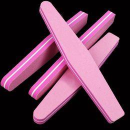 Wholesale Hot Pink Sand - 100pcs Lot Nail File Sponge Diamond Design 100 180 Lixa De Unha Hot Nails Art Pink Sanding Nail Buffer Polisher Tool Wholesale