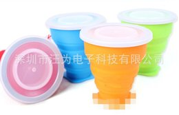 Wholesale Green Food Grade Silicone - Silicone Cup Outdoor Portable Telescopic Cups Multifunctional Originality Food Grade Travel Wash Folding Tumbler Hot Sale 4 9ww R