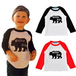 Wholesale Girls Summer Bottoms - 2017 Boys Girls Baby Childrens T-shirts Clothing Long Sleeve Tshirts Letter Cartoon Fox tshirts Toddler Kids Clothes Bottoming Shirt Tops