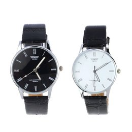 Wholesale Number Electronics - Wholesale- 2016 Free shipping Fashion 2colors quartz watch Classic Men's Watch Roman Number Electronic Leather WristWatch