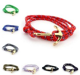 Wholesale Lobster Claw Charm Hook - 2017 Anchor bracelets Infinity bracelet Wrap Rope Charm Fish Hook With Paracord For Men And Women Miansai Style fashion jewelry wholesale
