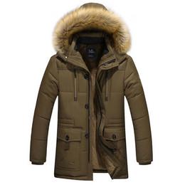Al por mayor-2016 de los hombres ropa larga de algodón jacke tautumnwinter abrigo de terciopelo caliente material Dad CoatsJackets engrosamiento de la chaqueta wadded macho desde fabricantes