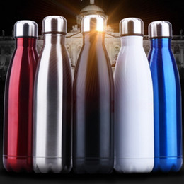 Wholesale Insulated Sports Bottles - Insulated Water Bottle Cola Shaped Portable Stainless Steel Flask Cup Bowling Shape Water Bottle for Outdoor Sports Tumblers Vacuum