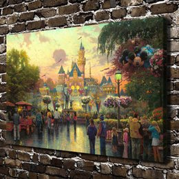 Wholesale Hd Arts - HD Printed Thomas Kinkade Oil Painting Home Decoration Wall Art On Canvas 50th Anniversary Celebration 24x36inch Unframed