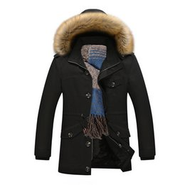 Wholesale Casual Faux Fur Hooded Pad - Wholesale- Thicker Warm Cotton-Padded Jacket Mens Jaqueta Masculina Faux Fur Hat New Men Hooded Leisure Jackets and Coats Casual Parka 5XL