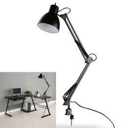 Wholesale Table Desk Mount - Black Flexible Swing Arm Clamp Mount Lamp Office Studio Home Table Desk Light Sophisticated Black LEG_30G