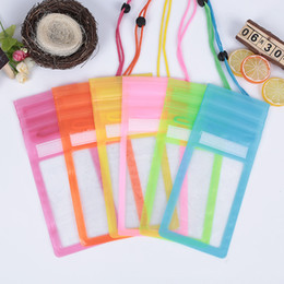 Wholesale Wholesale Clear Iphone Cases Cheap - Universal Cheap Mobile Phone Waterproof Case Clear Dry Bag With Lanyard Triple Sealed Neck Pouch Pack Cases Bags For iphone Plus Samsung