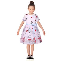Wholesale Military Style Shorts - Summer Dress Girl 2017 Brand Kids Princess Dress Embroidery Characters Kids Dresses for Girls Children Clothing with Sashes