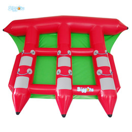 Wholesale Boat Fish Games - 0.9mm PVC Tarpaulin 6 Seat Version Inflatable Floating Flying Fish Towable Tube Inflatable Water Game Flyfish Banana Boat