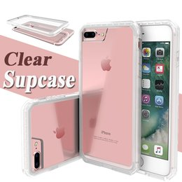 Wholesale Iphone 5s Bumpers - Supcase Unicorn Beetle Hybrid Bumper TPU + PC Premium Crystal Transparent Cover Case For iPhone 7 Plus 6 6S 5S Samsung S6 edge plus Note 5