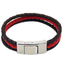 Wholesale Magnetic Clasps For Leather Braids - Free Shipping 10pcs  lot genuine leather bracelet STEEL Stainless Steel Magnetic Clasp Braided Leather Bracelet for Men Women Wrist
