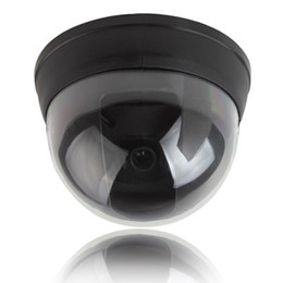 Wholesale Security Camera Small - Small Dummy Simulated Dome security Camera with Red Activity LED Light CCT_704