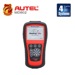 Wholesale Epb Reset - Autel MaxiDiag MD802 For 4 System (Engine+Transmission+ABS+Airbag) +EPB+OIL Service Reset+Data Stream DHL Free Shipping