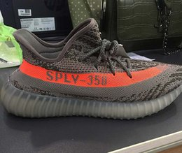 Wholesale Men Skiing - High quality SPLY-350 Boost V2 2016 New Kanye West Boost 350 V2 SPLY Running Shoes Grey Orange Stripes Zebra Bred Black Red 11 Color