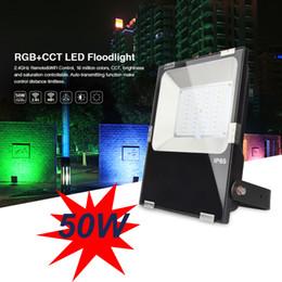 projecteur étanche Promotion Télécommande 2.4GHz RemoteWifi Control IP65 étanche 50W RGB + CCT Mi-Light LED avec 16 millions de changements de couleur