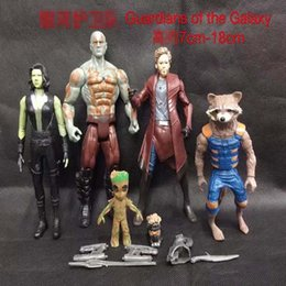 rocket baby toy Promo Codes - Guardians of the Galaxy 2 Action Figures dolls toy New Cartoon Kids Avengers Star-Lord Rocket Baby Groot PVC toys 5pcs set B001