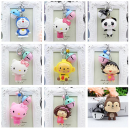Wholesale Silicone Women Doll - Best gift Creative cute two - color bells doll key holder bag pendant DIY accessories KR253 Keychains mix order 20 pieces a lot