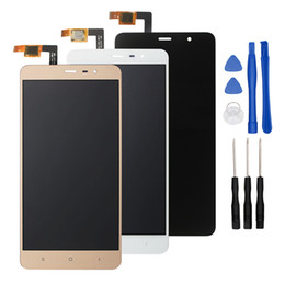 Wholesale Note Lcd Screen Replacement - For Xiaomi Redmi Note 3 LCD Display Capasitive Touch Screen 1920X1080 FHD Digitizer Assembly Replacement with free repairing tools