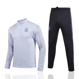 Wholesale Men S Track Suits - Top quality 17 18 Real Madrid Tracksuit BALE Track suits jacket XXL XXXL 2017 2018 new Real Madrid chandal training suits sports wear
