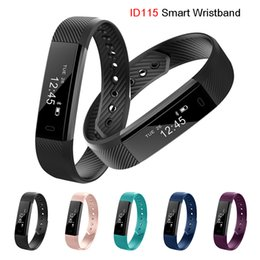Wholesale Wrist Clocks - ID115 Smart Bracelet Fitness Tracker Step Counter Activity Monitor Band Alarm Clock Vibration Wristband for iphone Android phone