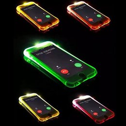 Wholesale Flash Edge - Call Lightning Flash LED Light Up Case Soft TPU Transparent Cases Shockproof Cover For iphone X 8 7 6 6s 5 plus samsung s8 plus s7 edge DHL
