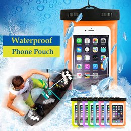 Wholesale Mobile Phone Pouch Galaxy - For iPhone 8 7 6s plus 5 5c Samsung galaxy S7 S6 edge plus Sealed Waterproof Underwater Mobile Phone Bag Pouch Case Armband