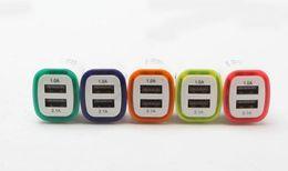 Wholesale Rocket Usb - Rocket Design LED light 5v 2a Dual USB Car Charger adapter For iPhone 6 7 Samsung Universal coche Cargador 100pcs