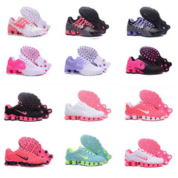 Wholesale Crystal Flat Dress Shoes - woman shox deliver NZ 809 R4 top designs for women basketball running dress sneakers sport TLX Avenue 803 lady crystal lace flat shoes