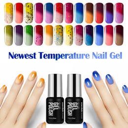 Wholesale dark red gel nail polish - Wholesale- 2016 Hot Sale Temperature Chameleon Nail Gel Polish UV Changing Color Gel Nail Polish Soak off Nail Polish Fashion Color 7ML