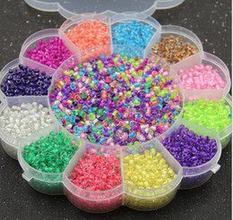 Wholesale Smallest Glass Beads - DIY jewelry accessories transparent glass beads with box small candy beads round glass bead handmade diy XZ38