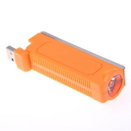 1 Pcs Nouveauté Électronique De Tabac Cigarette Briquet LED Lampe De Poche Interface USB De Charge Portable Cigarette voiture Accessoires Fumeur ? partir de fabricateur