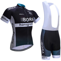 Wholesale Mens Cycling Sets - Vacove Brand New 2017 team BORA cycling jersey bike shorts set Ropa Ciclismo quick dry mens pro cycling wear bicycle Maillot Culotte