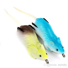 """Wholesale Mice Lures - 10PC Top Mice Lure Fishing Bait Soft Bait 2 Color Fishing Lure 2.7""""-6.86cm 0.46oz-13g Fishing Tackle Bass Baits"""