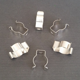 Wholesale Ring Fluorescent Light - Lighting Accessories T4 T5 T8 lamp tube clamp ring pipe clamp support clip retaining clip spring buckle metal clip fluorescent card