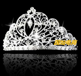 Wholesale Bridal Forehead - Bridal Hair Accessories Forehead Flower Crown Wedding Head Jewlery Bride Headpiece Clip Rhinestone Headband Pieces Tiaras